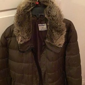 Old Navy frost free coat in Olive Green